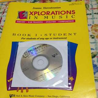 Explorations In Music (theory,ear training,analysis,composition) Book 1 With Cd