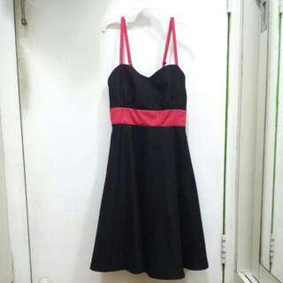 Bonito Chico Black and Pink Dress