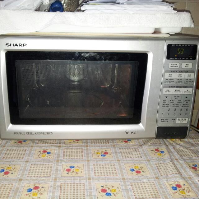 Preloved Sharp Microwave Oven Sharp Double Grill Convection