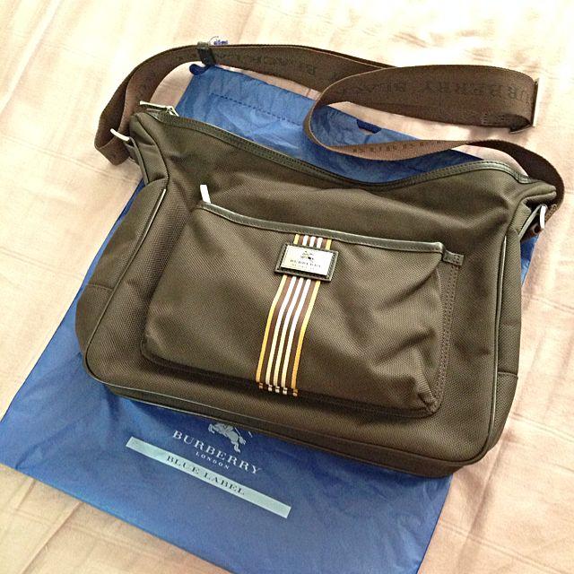 a90a4b21126b Burberry Black Label Dark Brown Canvas Messenger Bag