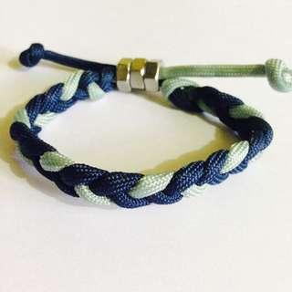 NEW! Blue Mix Basic Braid Parachute Cord Bracelet