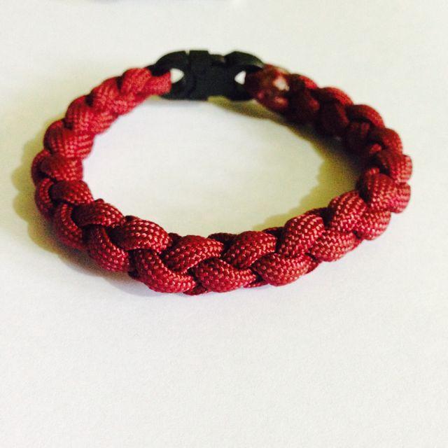 NEW! Maroon Round Braid Parachute Cord Bracelet