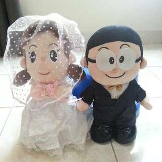 Nobita and Shizuka Wedding Plush