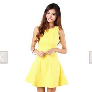 Northern Skater Dress yellow