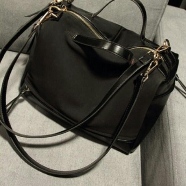 Two Textured Leather Hand/Sling Bag