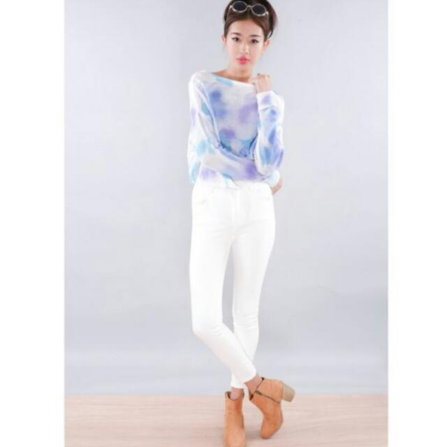 Water colour Knitted Top