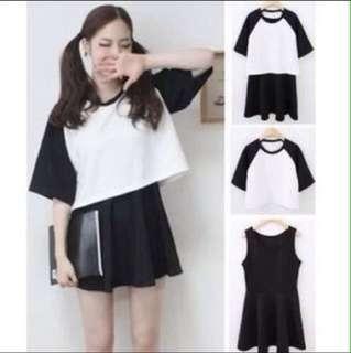 BN Crop top with sleeveless dress