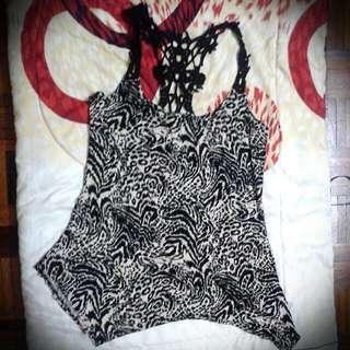 Animal Print Lace Tunic