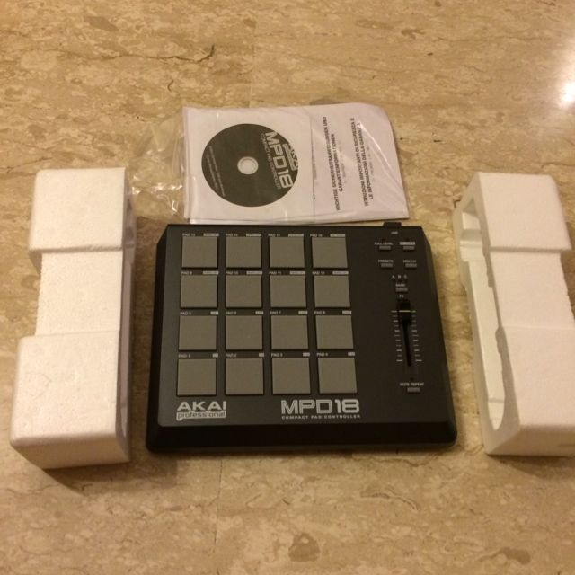 Akai MPD18 Drum Pad Controller, Music & Media on Carousell