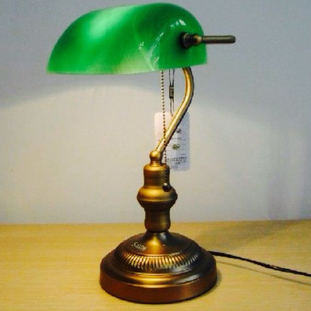 Vintage antique green library bankers lawyer table lamp or library vintage antique green library bankers lawyer table lamp or library desk lamp furniture on carousell mozeypictures Choice Image