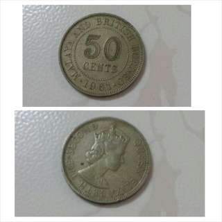 Queen Elizabeth The Second 1961 50cent Coin