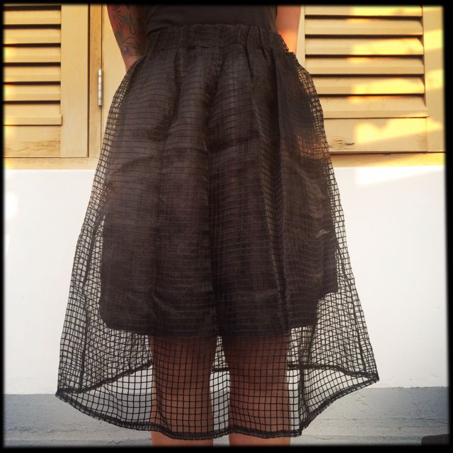 [RESERVED] Black Organza Skirt