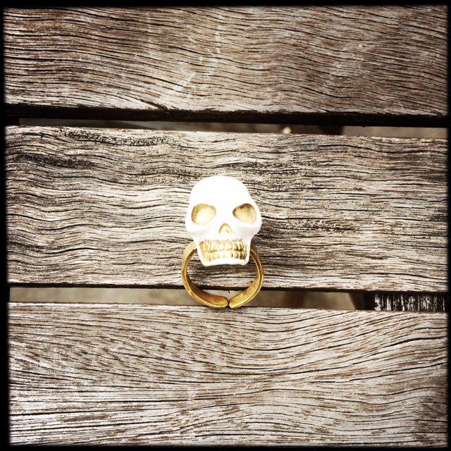 White Skull Ring