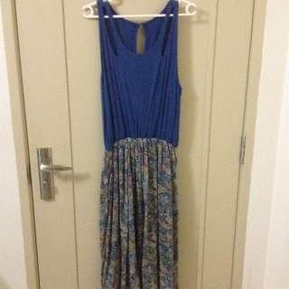 Hi-low Paisley Dress