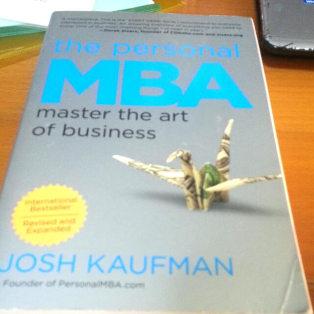 The Personal MBA: Josh Kaufman, Books & Stationery on Carousell