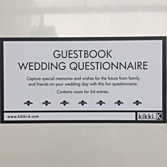 Bnip Kikki K Wedding Guest Book Questionnaire Design Craft On Carou