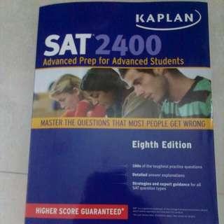 SAT 2400 Advanced Prep For Advanced Students