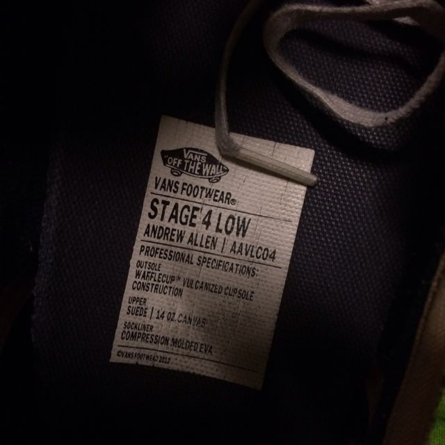 f2addb9787 Vans Shoes Stage 4 Low Andrew Allen(Suede) Skateboarding