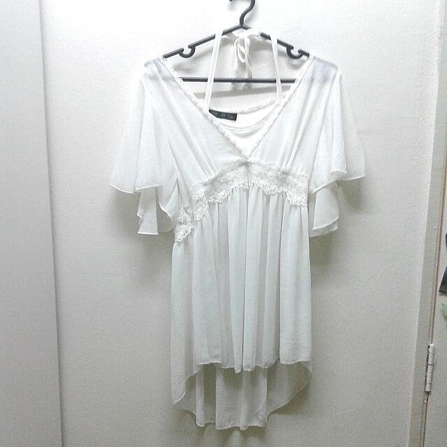 White Boho Style Flowy Top/dress