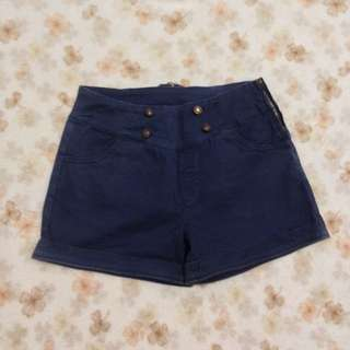 Dark Blue Sailor Shorts