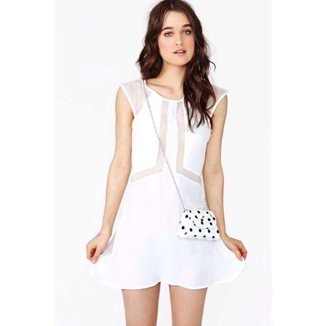 715c0028bf Nastygal Paradox White Dress -  15 PENDING