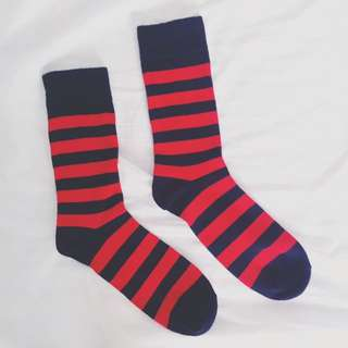 H&M Black And Red Socks