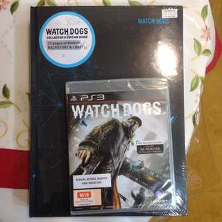 Watch Dog Game And Collectible Book