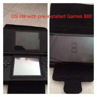 DS Lite With Preinstall Games