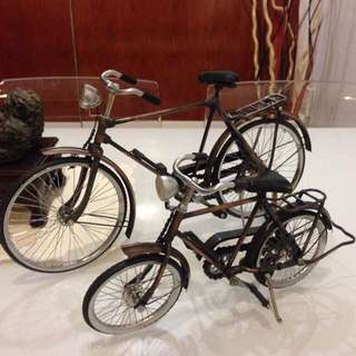 A Pair Of Father & Son Deco Bicycle