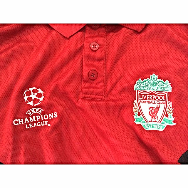 ca09617da Pre-Loved Authentic Liverpool FC Polo Shirt - Champions League Size UK  42/44, Sports on Carousell