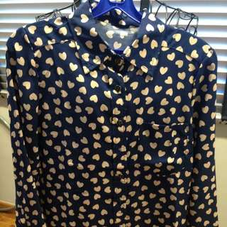 Navy Blue With Printed Shirt