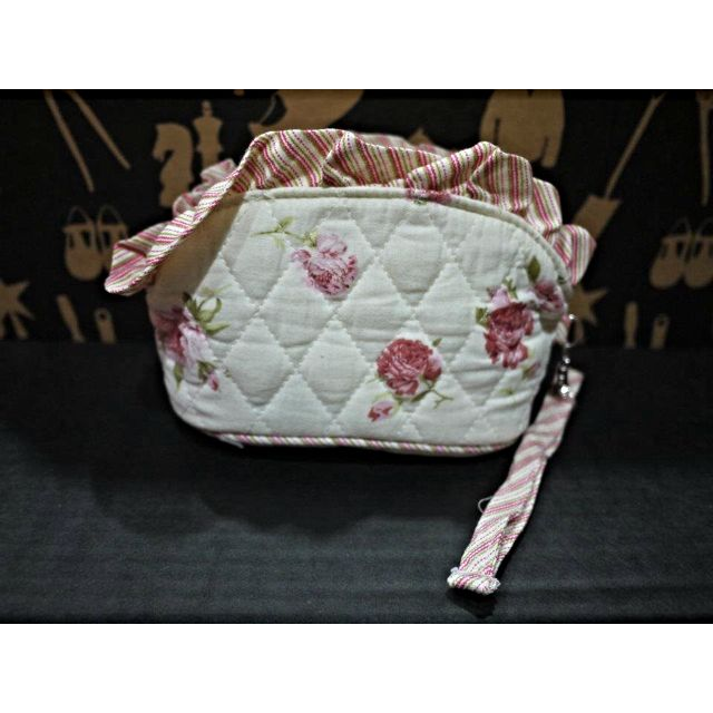 [REDUCED!] Floral Quilted Cotton Make Up Pouch