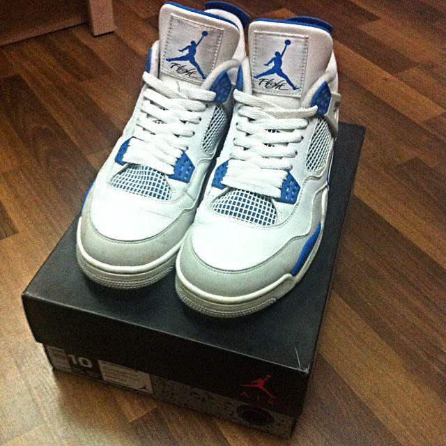 big sale 568e5 86631 Nike Air Jordan 4 Military Blue
