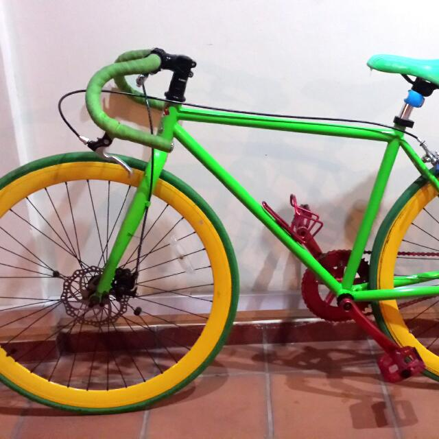 Road Fixie With Specialy Made Disc Brake And 48teeth Crack