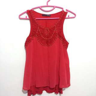 *BRAND NEW* Red Studded Top