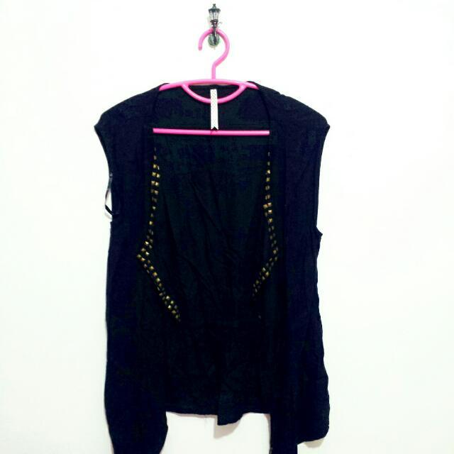 Black Studded Vest