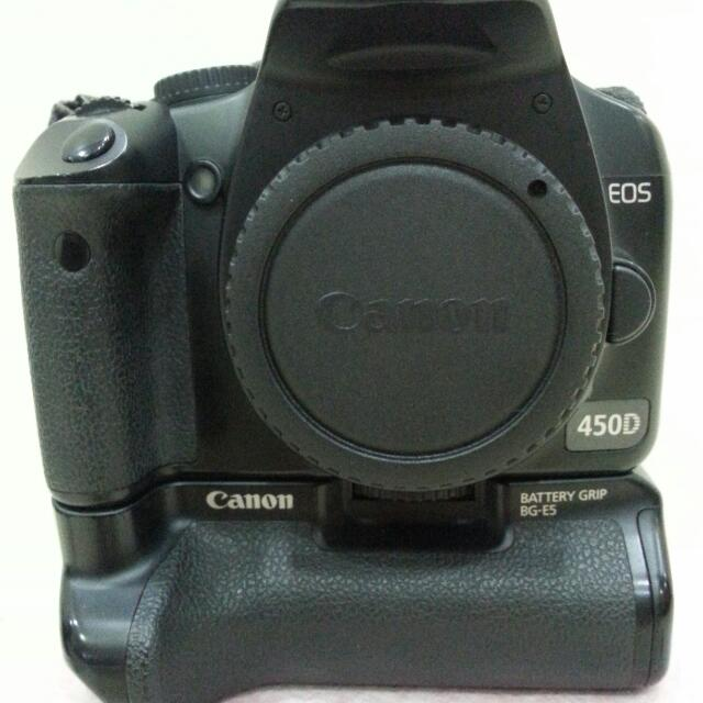 Canon DSLR Camera EOS 450D ( Body Only ) With Battery Grip