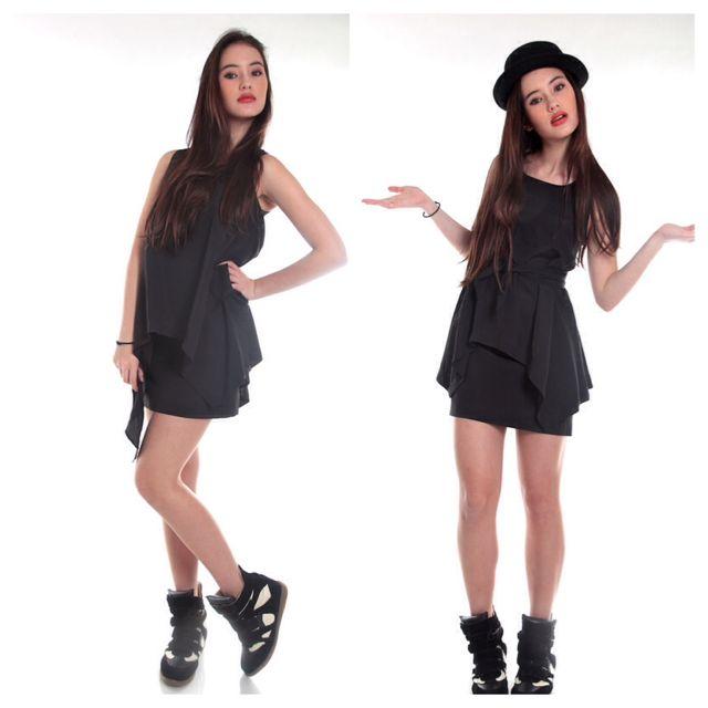2-Way Handkerchief Dress (Black)