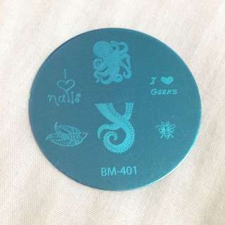 (BM-401) Nail Art Stamp Plate