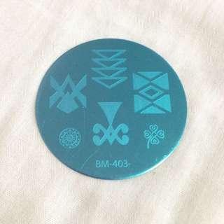 (BM-403) Nail Art Stamp Plate
