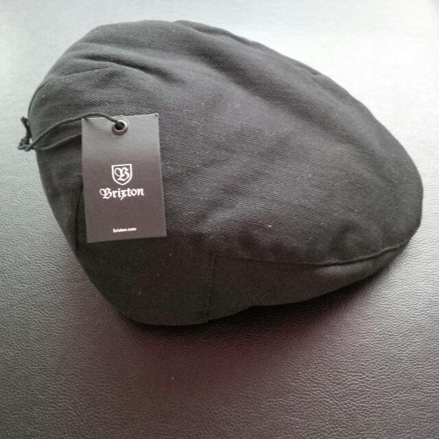 23dada34351e8 Brixton Hooligan Hat in Black Herringbone , Men's Fashion on Carousell