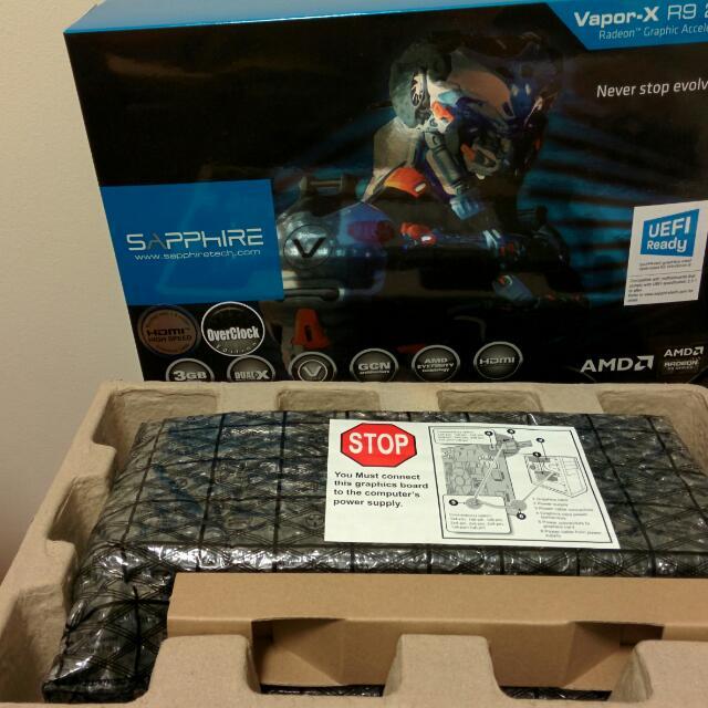 Sapphire R9 280X 3GB Vapor-X OC DDR5, Toys & Games on Carousell