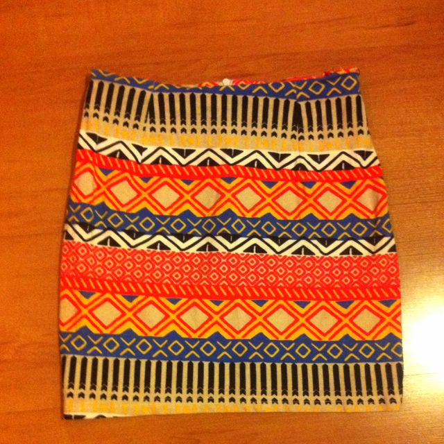 Aztec Bright Colored Bodycon Skirt