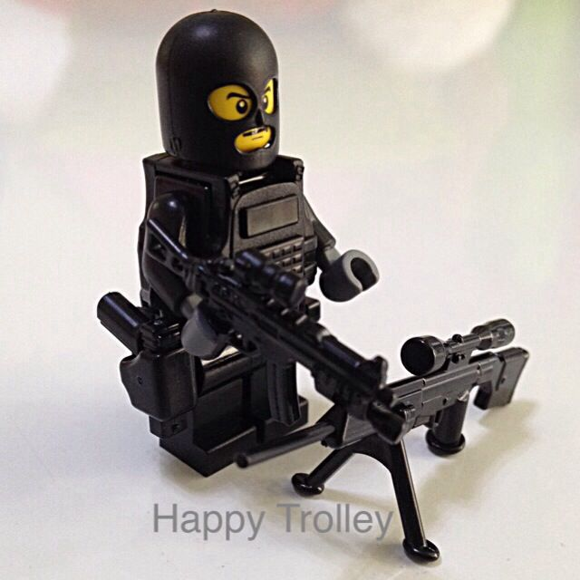 Lego Swat Sniper Minifigurine Custom Made Toys Games On Carousell