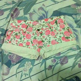 Pink Flowery Shorts