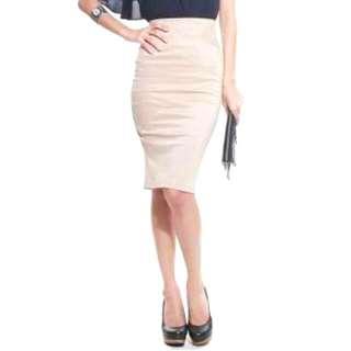 Love Bonito Merill Nude Pencil Skirt
