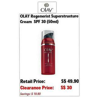 OLAY Regenerist Superstructure Cream SPF30 (50ml)