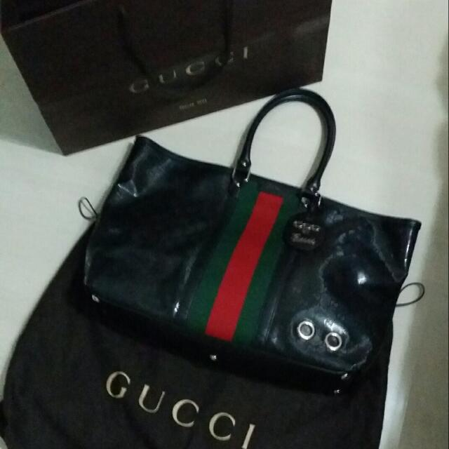 30f10b4fa30fdb Limited Collection 500 by Gucci GG Imprime Tote bag, Vintage ...