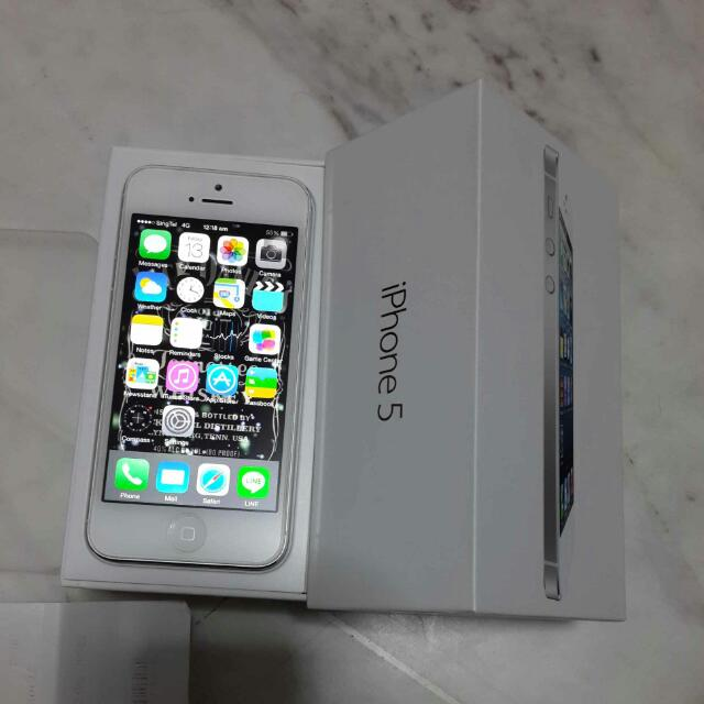 Pre Owned Iphone 5 16gb White