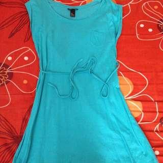 FOS Basic Aqua Blue Dress